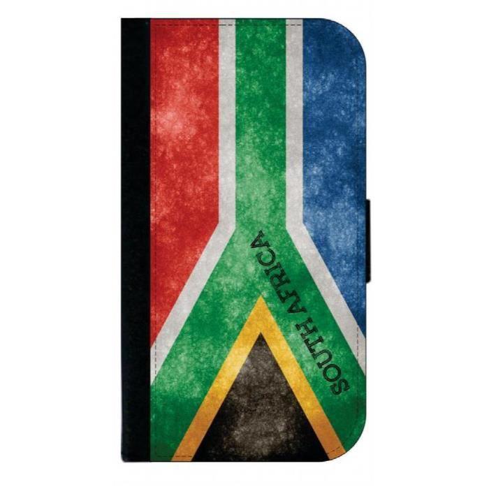 Bracelet De Montre Vendu Seul I46JB Drapeau grunge sud-africain des hommes - Passeport Couverture / titulaire de la carte pour Voyag