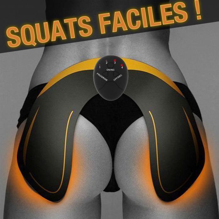 Squat Machine - Raffermir Muscler Cellulite Fesses bombées Exercice fessier Bombé Galber Ceinture Électrode, Electrostimulateur