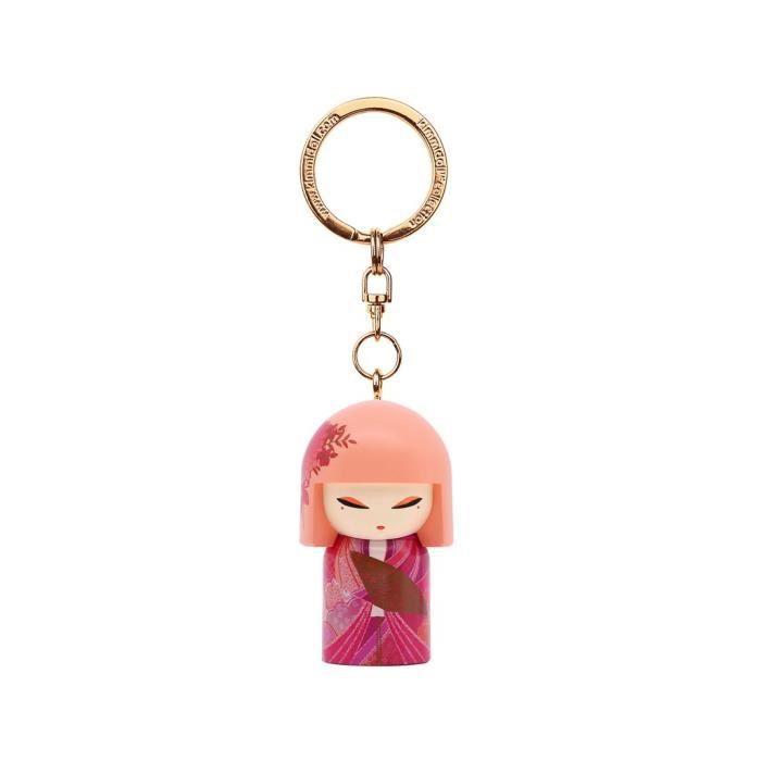 Porte clé Kokeshi Kimmidoll 5cm Ai - Femininity VERSION ANGLAISE