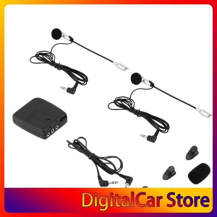 Système de communication casque à casque, Intercom 2 voies pour moto, kit mains-libres avec MP3 et GPS -HJ554