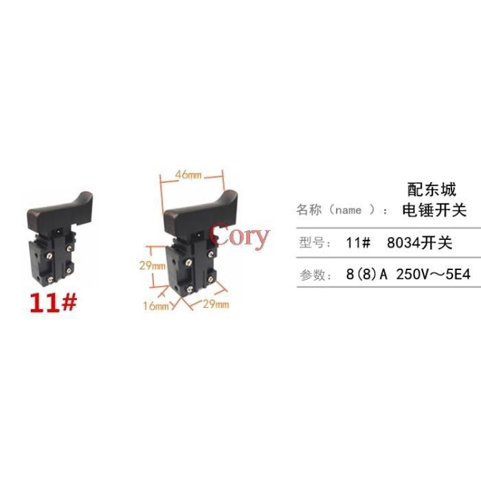 11 -Interrupteur de déclencheur pour meuleuse d'angle, outil électrique, bouton de commande de vitesse pour perceuse à marteau él