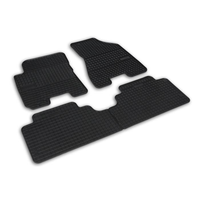 Tapis de sol caoutchouc sur mesure pour Hyundai Tucson 1 I JM EL ELH 2004-10 Noir 4 pcs
