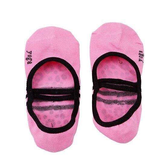 Accessoires Fitness - Musculation,Chaussettes de Yoga dos nu pour femmes chaussettes de cyclisme Anti glissantes bout - Type pink