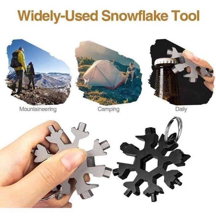 18 en 1 combinaison de cartes à outils flocon de neige tournevis à flocon de neige multifonctionnel