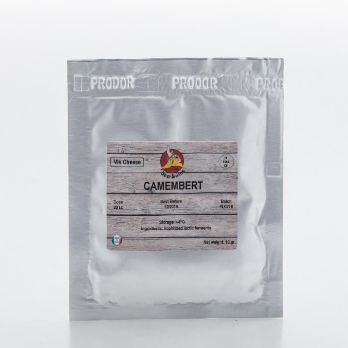 Camembert 10g / 20L - Ferment Fromage - Fromage Italien - Ferment Lactique - Les bactéries de fromage - Geler Culture séché