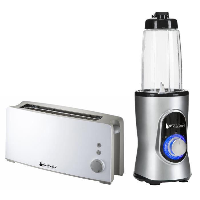Grille pain longue fente BLACKPEAR + Blender Black Pear BBL100 220W capacité 0.6L gris