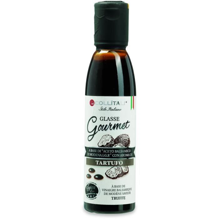 COLLITALI Crème balsamique de Modène aromatisation truffe - bouchon graphique - 180 g - 150 ml