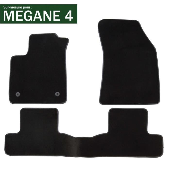 DBS - Tapis voiture / auto - Sur Mesure pour MEGANE 4 (2015 - 2020) - 3 pièces - Antidérapant - Moquette Premium
