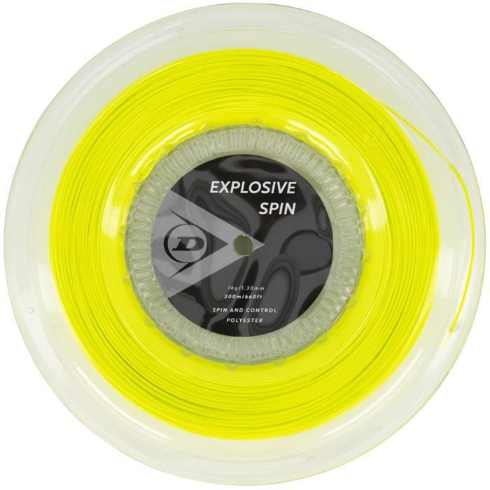 Bobine Dunlop Explosive Spin Jaune 200m - Couleur:Jaune Jauge:130