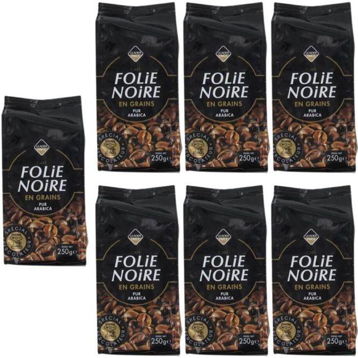 [Lot de 7] Folie noire - café en grains pur arabica - 250g par paquet