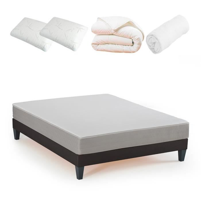 OLYMPE - Pack Prêt à dormir Athena - 180x200 cm 180 x 200 cm Blanc