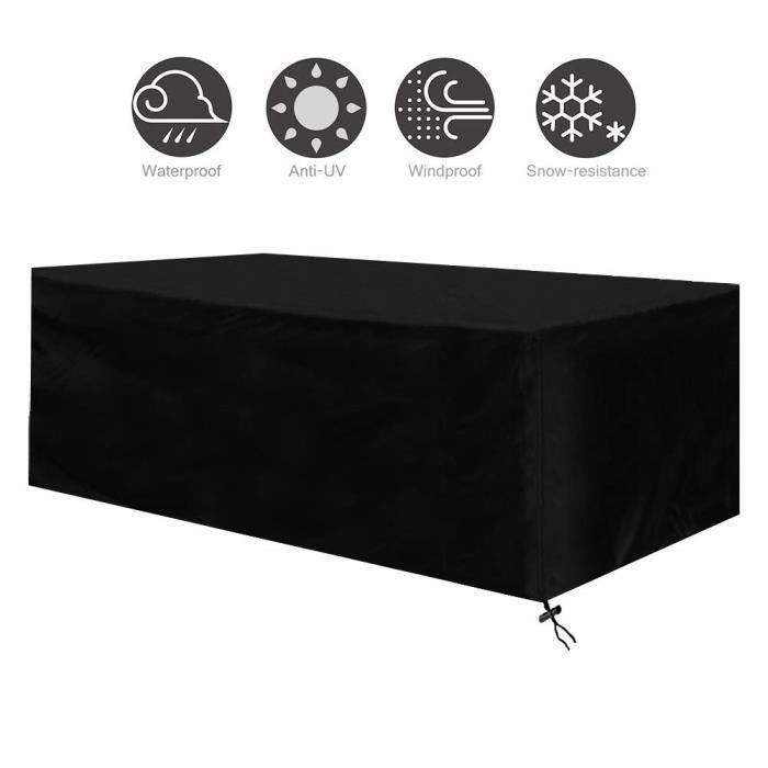 Housse Salon de Jardin Bâche de Protection Housse Table Imperméable Anti-UV Imperméables 242x162x100cm