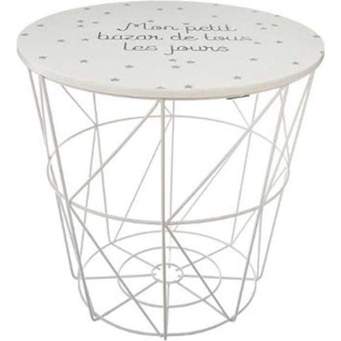 Table d'Appoint Design Enfant -Kumi- 30cm Blanc