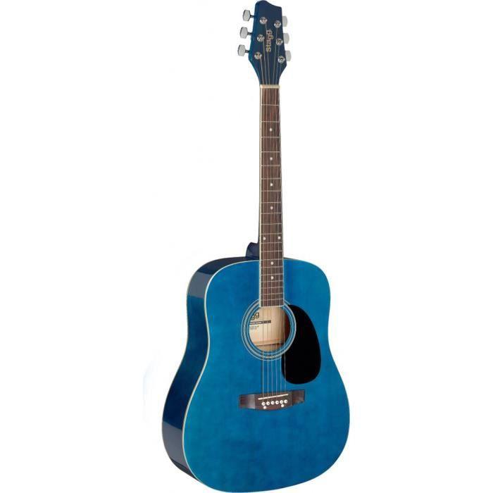 Stagg Dreadnought Guitare Acoustique - Bleu