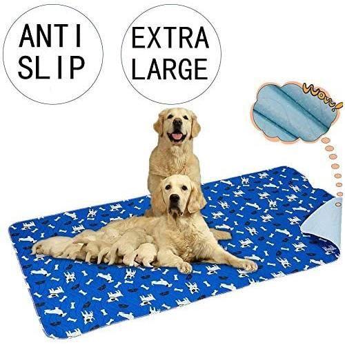 Yangbaga Alese Lavable Chien XXL 90 * 160cm,Tapis Educateur Ultra Absorbant et Antiderapant, idéal pour l'éducation du chien.