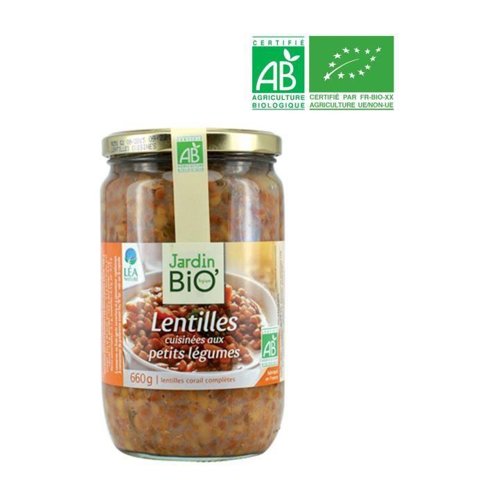 JARDIN BIO Lentilles cuisinées légumes bio - 660g