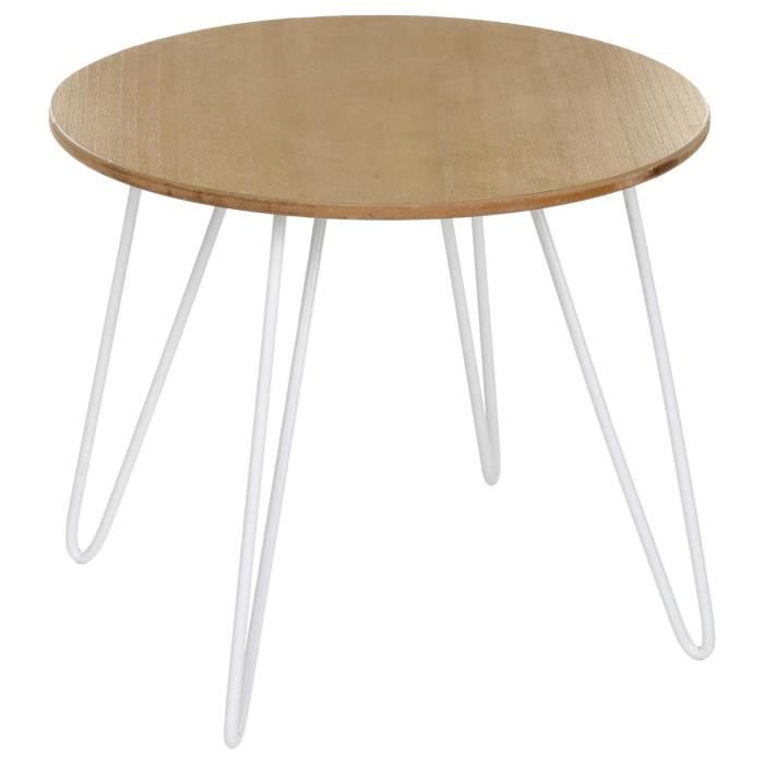 Table basse design esprit scandinave coloris blanc for Table basse blanc scandinave