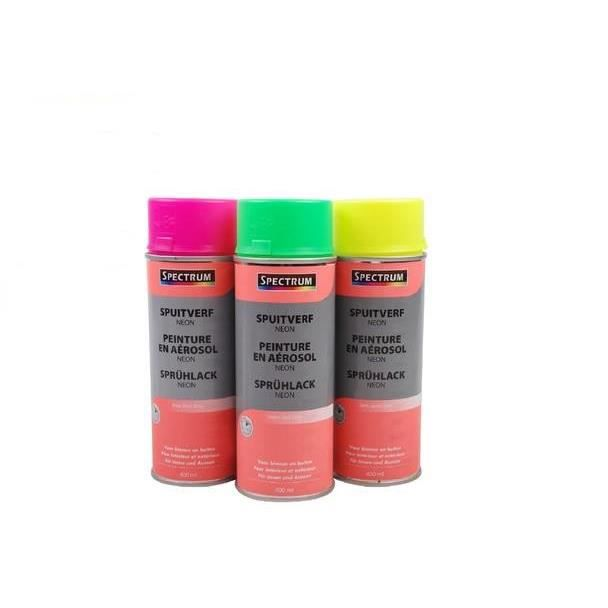 peinture en aerosol neon fluo 400ml jaune achat vente peinture vernis cdiscount. Black Bedroom Furniture Sets. Home Design Ideas