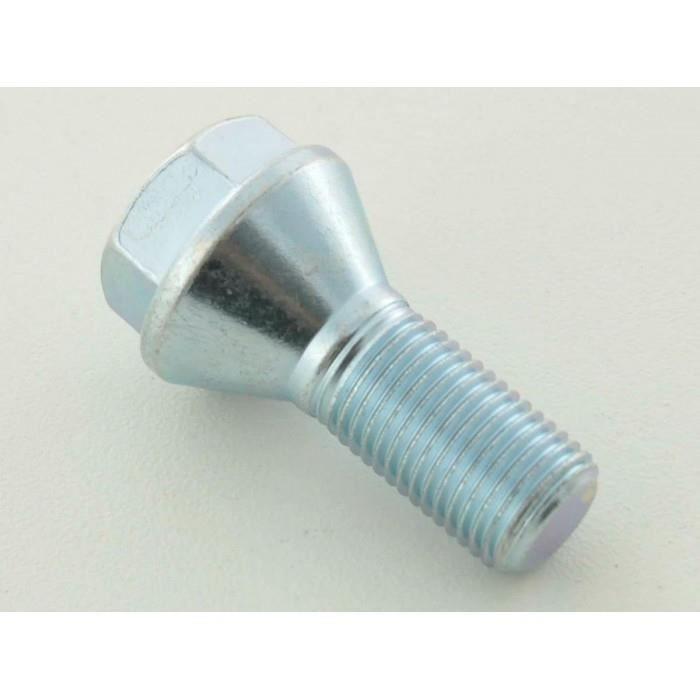 silver 4 x m14 x 1,5 35mm thread Rayon Boulons de roue