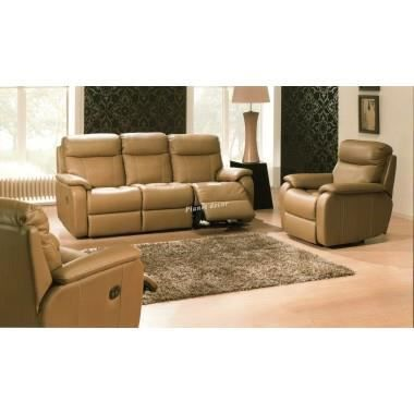 Salon cuir design relax model corfu 3 2 taupe achat vente salon complet c - Cdiscount salon cuir ...