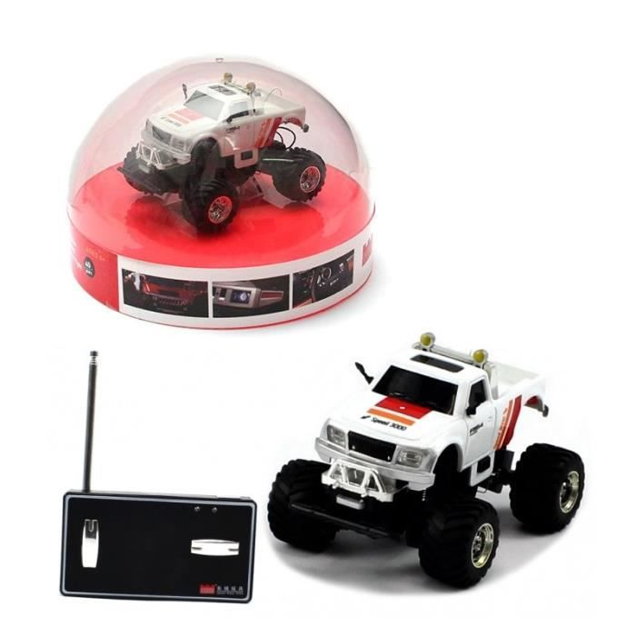 mini voiture 4x4 radiocommand ou t l command rc blanc. Black Bedroom Furniture Sets. Home Design Ideas