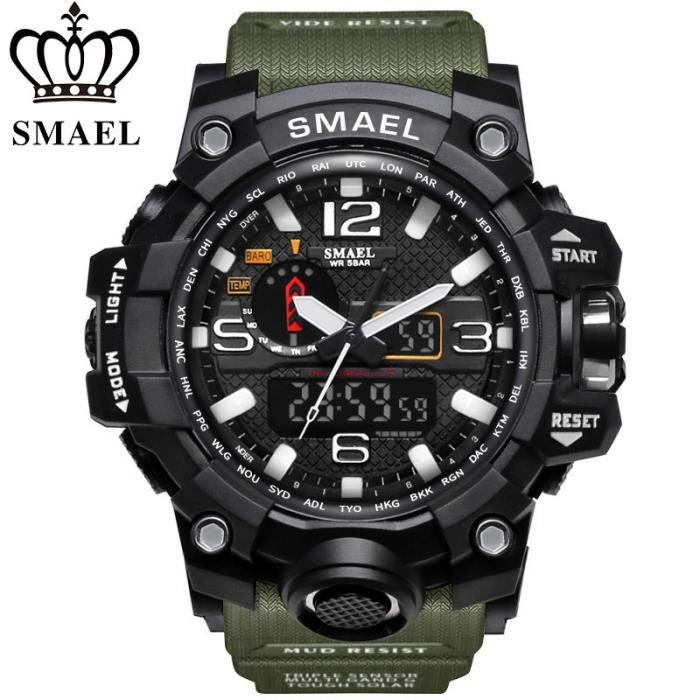 montre homme sport led de militaire electronique casual montres achat vente montre montre. Black Bedroom Furniture Sets. Home Design Ideas