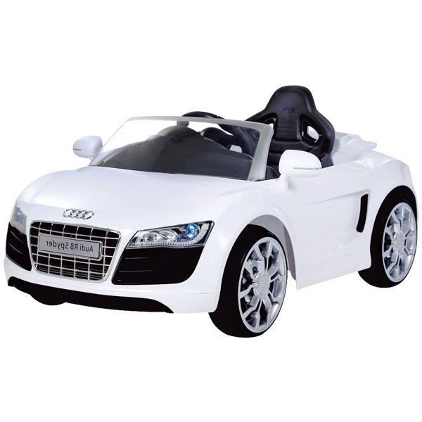 audi r8 spydster blanc voiture lectrique enfant achat vente voiture enfant cdiscount. Black Bedroom Furniture Sets. Home Design Ideas