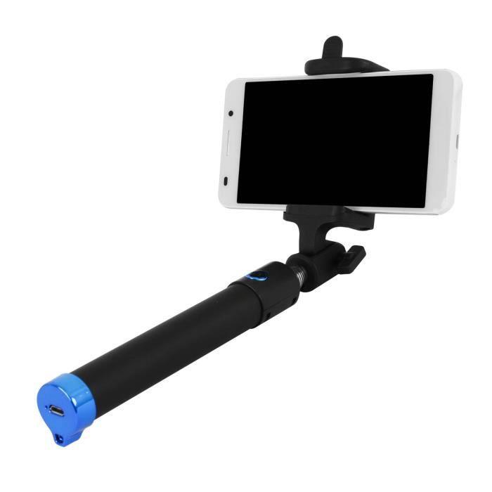 Batton Téléscopique pour Selfie Smartphone 16 cm à 104 cm déplié
