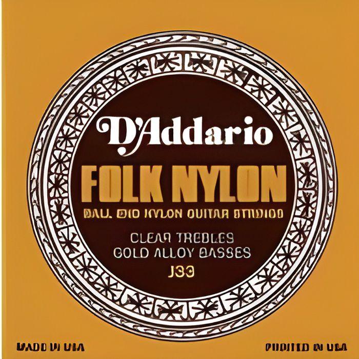 CORDE POUR INSTRUMENT DADDARIO EJ33 Nylon à boules clair et cuivre