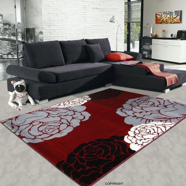 tapis salon chester 1025 rouge 80 x 140 cm achat vente. Black Bedroom Furniture Sets. Home Design Ideas