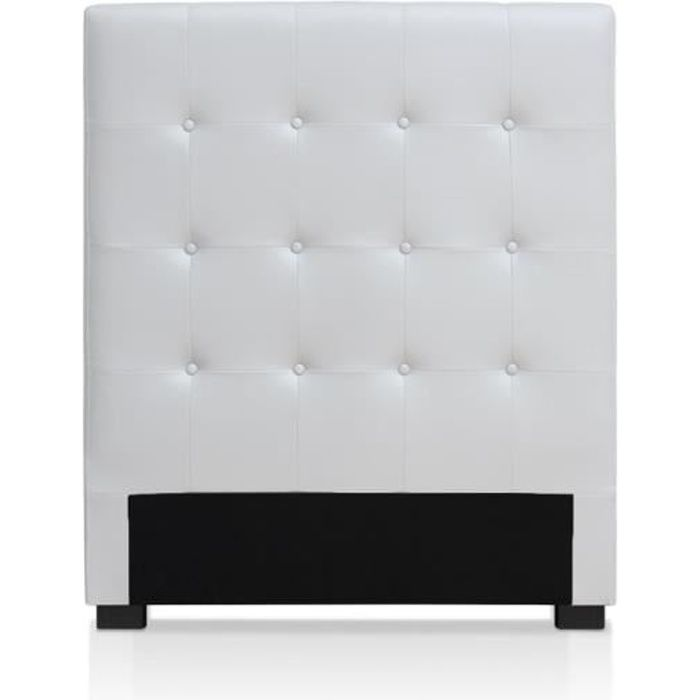 t te de lit luxor 90cm blanc achat vente t te de lit. Black Bedroom Furniture Sets. Home Design Ideas