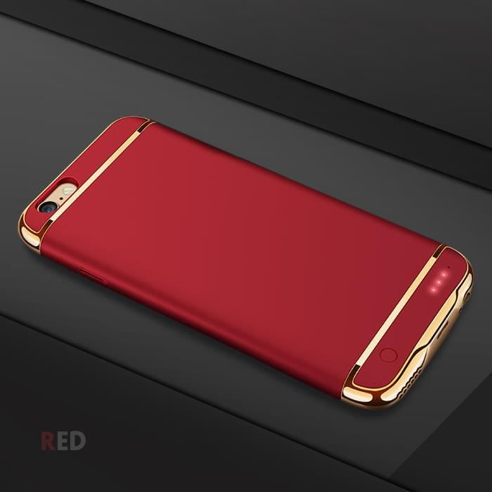 coque rechargeable iphone 7 rouge