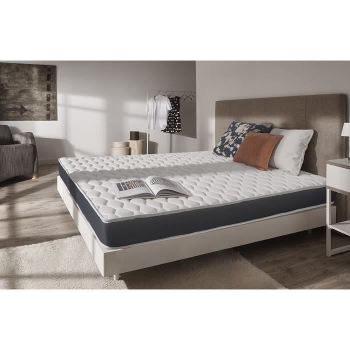 Matelas Top Latex 140x190 Cm Mousse Haute Densite Blue Latex 7