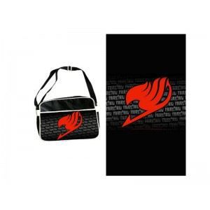 BESACE - SAC REPORTER Sac besace - Fairy Tail - Sac Coursier Logo Rou…