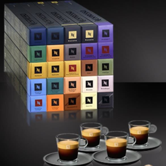 promo nespresso coffret decouverte 250 capsules 4 tasses nespresso achat vente coffret. Black Bedroom Furniture Sets. Home Design Ideas