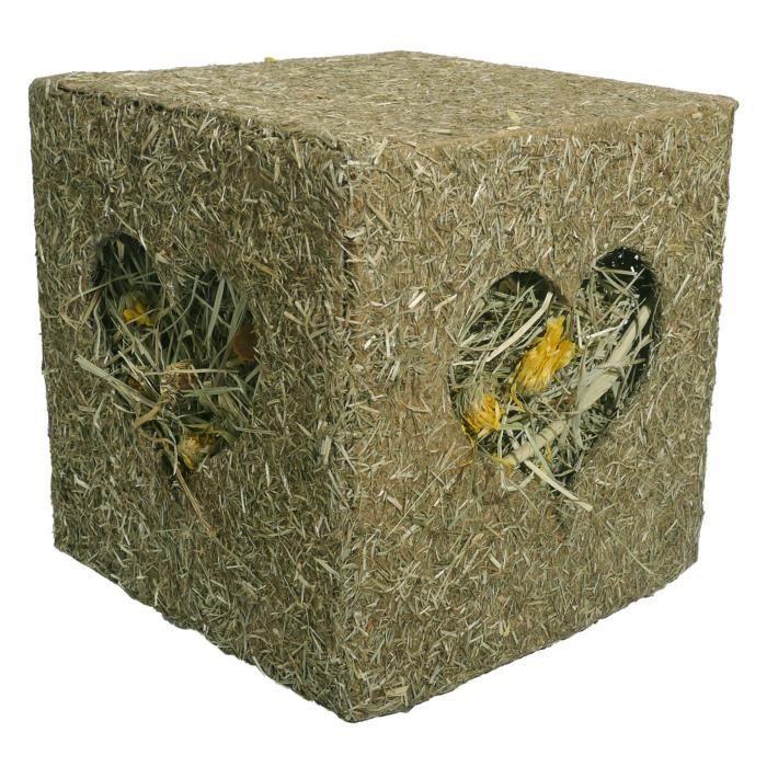 JOUET ROSEWOOD 19518 - Jouet Cube I love Hay - 20 x 20 x