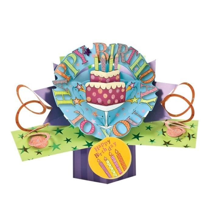 Carte Gateau D Anniversaire 3d Second Nature Pop Ups Achat