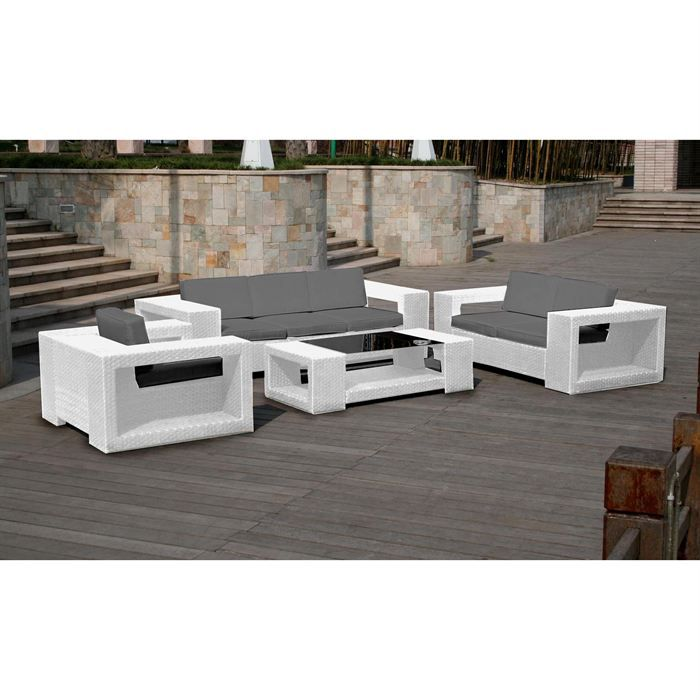 ensemble de jardin ben blanc achat vente salon de jardin ensemble de jardin ben blanc. Black Bedroom Furniture Sets. Home Design Ideas