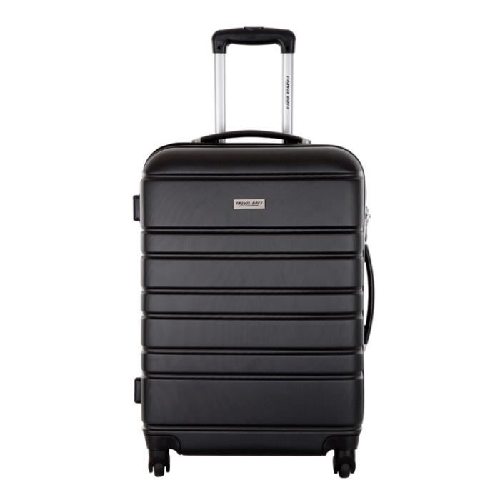 travel one valise cabine blackburn noir taille achat vente valise bagage 3607070630518. Black Bedroom Furniture Sets. Home Design Ideas