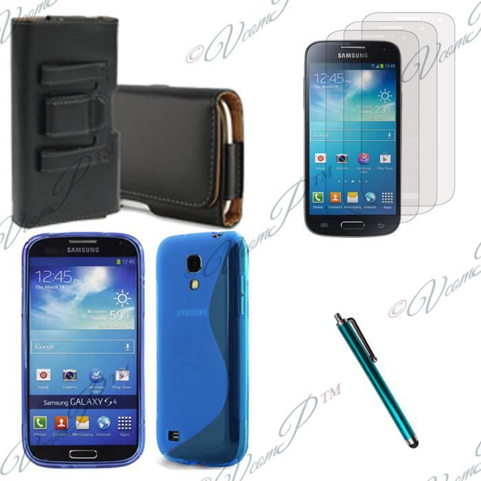 pour samsung galaxy s4 mini i9190 i9195 bleu lot coque. Black Bedroom Furniture Sets. Home Design Ideas
