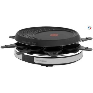 TEFAL - Raclette 8 c inox et design - RE137812