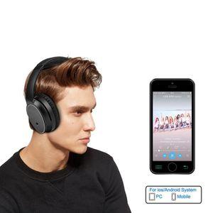 CASQUE - ÉCOUTEURS Casque Bluetooth stéréo sans fil pliable antibruit