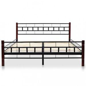 LIT COMPLET Lits et cadres de lit vidaXL Cadre de lit et sommi