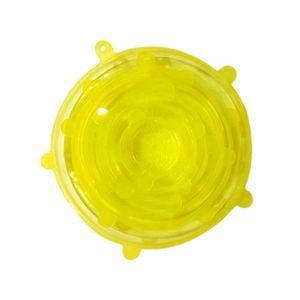 Vige 6pcs couvercles en Silicone de qualit/é Alimentaire couvercles de Cuvette /étanches universels Frais gardant Le Couvercle de Casserole de Couvercle de Casserole Couvre Accessoires de Cuisine