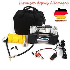 COMPRESSEUR AUTO Mini Compresseur d'air 12V portable 150PSI Gonfleu
