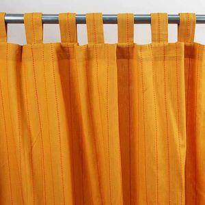 RIDEAU ONTARIO bi-colore rideau Coton à pattes (150x250cm