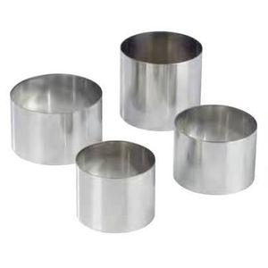 EMPORTE-PIÈCE  NONNETTES RONDES INOX Diametre:8 cm - Hauteur:4 cm