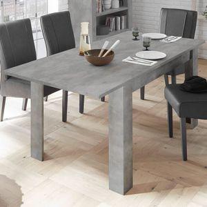 TABLE À MANGER SEULE Table extensible 140 cm couleur gris béton design