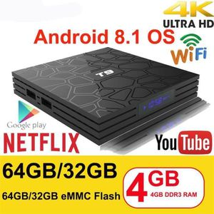 BOX MULTIMEDIA Android 8.1 Décodeur Stream Box Media Streamer - B