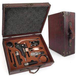 TIRE-BOUCHON  Ensemble-cadeau d'accessoires pour le vin avec co